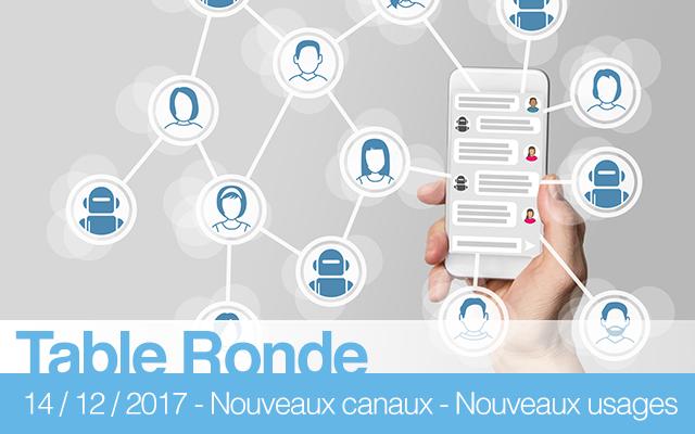 """Table-ronde """"Canaux hybrides, nouveaux réseaux, nouvelles applications (blockchain, chatbot,...) : la révolution des usages"""""""
