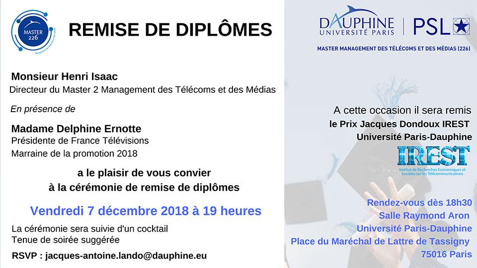 Remise du Prix Jacques Dondoux IREST - Université Paris-Dauphine